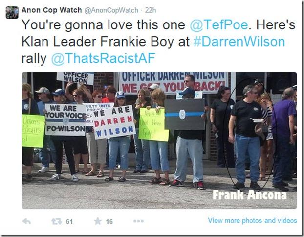 Frank Acona attending DarrenWilson rally copy